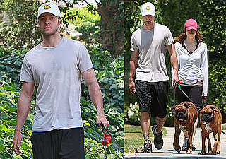 Photos of Justin Timberlake And Jessica Biel Walking Her Dogs in LA