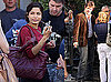 Photos of Josh Brolin And Freida Pinto on The London Set of Woody Allen's New Film