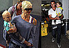 Photos of Gwen Stefani, Gavin Rossdale, Kingston Rossdale, Zuma Rossdale Landing at LAX From Hawaii 2009-08-17 09:00:00