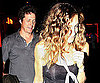 Slide Photo of Hugh Grant, Sarah Jessica Parker at Dinner in NYC