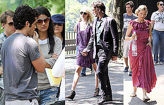 Photos of Michelle Trachtenberg, Kelly Rutherford, Penn Badgley, Taylor Momsen, Jessica Szohr Filming Gossip Girl