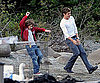 Slide Photo of Zac Efron and Charlie Tahan Filming The Death and Life of Charlie St Cloud in Vancouver