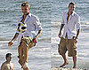 Photos of David Beckham Shooting a Commercial on the Beach