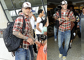 Photos of David Beckham Arriving in DC With LA Galaxy