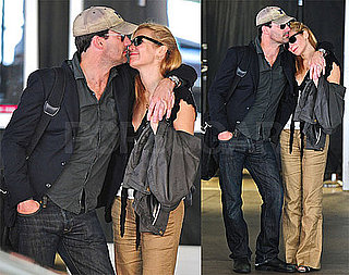 Photos of Jon Hamm and Jennifer Westfeldt Kissing at LAX