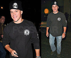 Photos of Matt Damon Arriving Onto The Adjustment Bureau Set in NYC