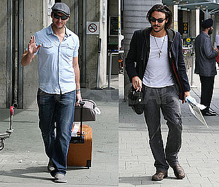 Photos of Peter Facinelli and Jack Huston Arriving In Vancouver To Film Eclipse