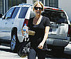 Photo Slide of Kristin Cavallari Leaving The Neil George Salon in LA