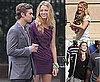 Photos of Blake Lively, Hilary Duff, Leighton Meester, Kelly Rutherford, Chace Crawford Filming Gossip Girl