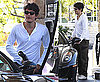 Photos of John Mayer Getting Gas For His Ferrari in Calabasas