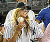 Slide Photo of Avril Lavigne Wearing Yankees Gear to Game in Texas