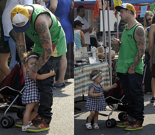Photos of Joel Madden With Harlow At Farmers Market In LA