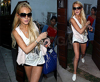 Photos of Lindsay Lohan in LA, Michael Vows to Catch Evildoers With Police