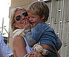 Slide Photo of Gwyneth Paltrow and Moses Martin in Barcelona