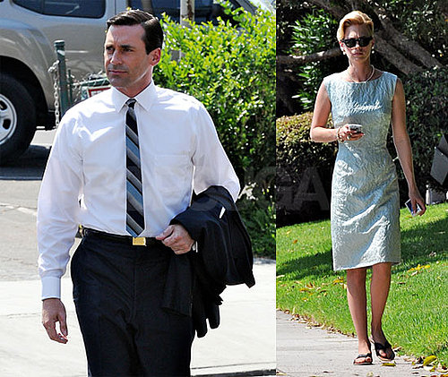 Photos of Jon Hamm and January Jones Filming Mad Men in LA