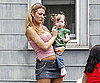 Slide Photo of Blake Lively With a Baby on the Set of The Town