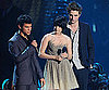 Slide Photo of Taylor Lautner, Kristen Stewart, and Robert Pattinson at VMAs Showing off New Moon