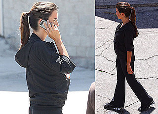 Photos of Possibly Pregnant Penelope Cruz Filming in LA