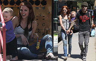 Photos of Ashlee Simpson, Pete Wentz, and Bronx at the Park in LA