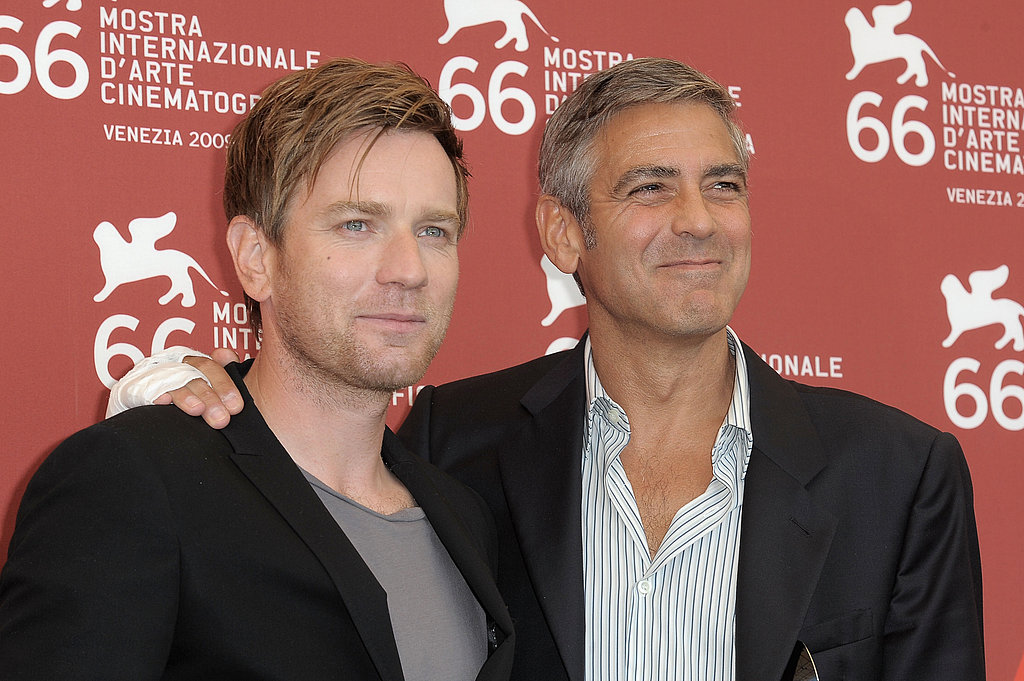 Photos of George Clooney and Ewan McGregor in Venice