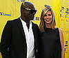Slide Photo of Heidi Klum and Seal Attending Paramount Studios Event