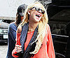 Slide Photo of Lindsay Lohan Laughing in NYC