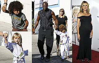 Photos of Seal Bringing Henry, Johan and Leni to Karate Class