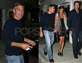 Photos of George Clooney, Elisabetta Canalis, and Rande Gerber After Dinner in LA