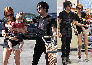 Photos of Ashlee Simpson, Pete Wentz, And Bronx Wentz Shopping at PETCO in LA