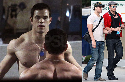 Photos of Kellan Lutz Shirtless Working Out in Vancouver With Peter Facinelli