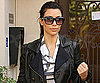 Slide Photo of Kim Kardashian Wearing Leather Jacket in LA