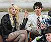Slide Photo of Taylor Momsen and Connor Paolo on the Set of Gossip Girl Wearing Fishnets