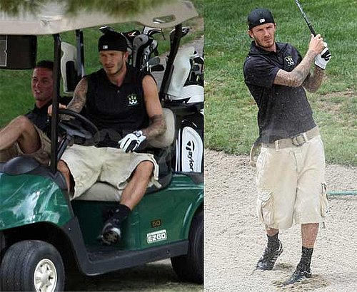 Photos of David Beckham Playing Golf in LA