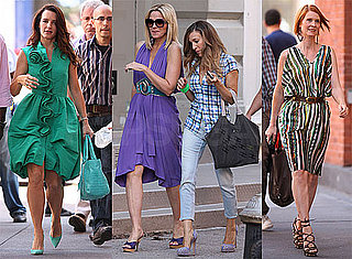 Photos of Sarah Jessica Parker, Kristin Davis, Cynthia Nixon, Kim Cattrall Filming Sex and the City 2
