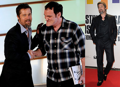 Brad Pitt and Quentin Tarantino at the Premiere of Inglourious Basterds in San Sebastian 2009-09-20 23:53:47