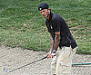 Photo Slide of David Beckham Playing Golf in LA