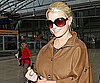 Slide Photo of Jessica Simpson Walking Through the Airport in London