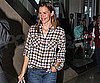 Slide Photo of Jennifer Garner Arriving at LAX to Photographers
