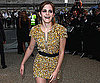 Slide Photo of Emma Watson Wearing Gold to Burberry Fashion Show