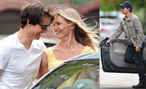 Photos of Cameron Diaz, Tom Cruise Filming Wichita with Gun and Handcuffs