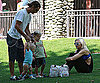 Slide Photo of Gwen Stefani, Gavin Rossdale, Zuma Rossdale, Kingston Rossdale at LA Park