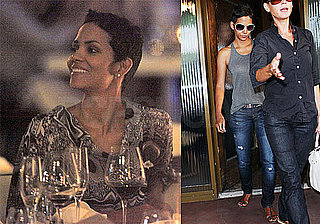 Photos of Halle Berry at BOA Steakhouse and Thai Massage Spa