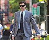 Slide Photo of Hugh Jackman Walking NYC with Briefcase