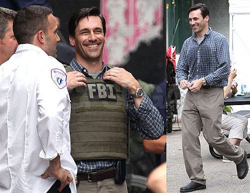 Photos of Ben Affleck And Jon Hamm Filming The Town in Boston