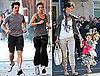 Photos of Tom Cruise, Katie Holmes Jogging in Boston with Suri Cruise
