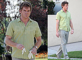Photos of Michael C. Hall Filming Dexter in LA