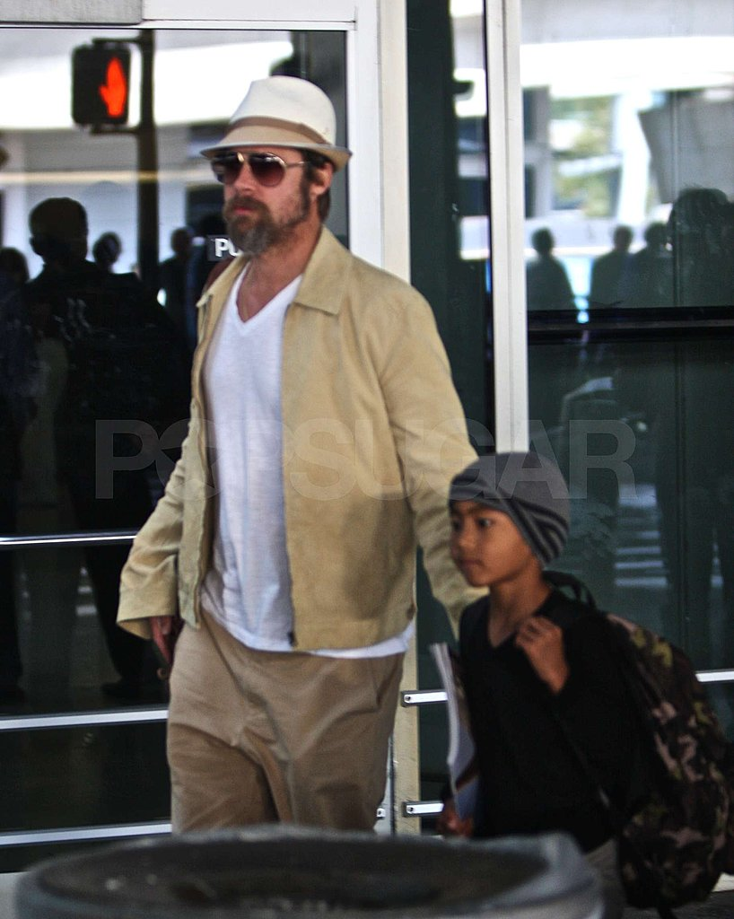Photos of Brad Pitt at JFK