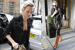 Photos of Kate Moss Leaving The John Freida Salon in London