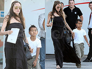 Photos of Angelina Jolie And Maddox Jolie-Pitt Grocery Shopping in France