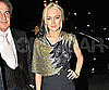 Slide Photo of Lindsay Lohan Wearing Sequins at the Vogue Covers Party